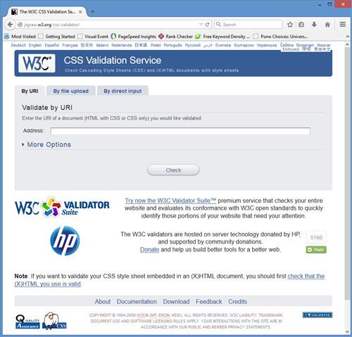 CSS Validator Screenshot