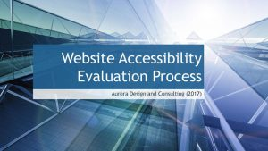 Website Accessibility Evaluation Process